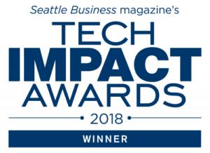 Seattle Business magazine 2018 Tech Impact Award
